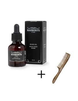 Promo pack huile pour barbe + peigne gratuit